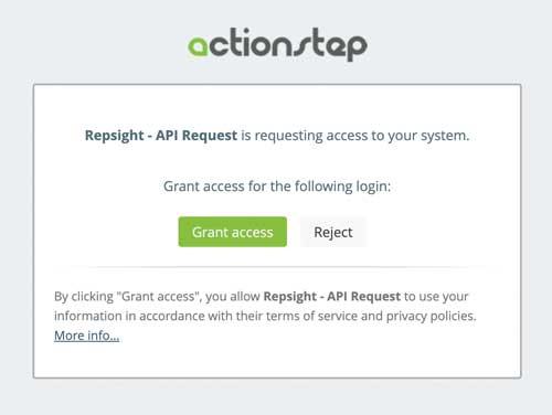 Allow Repsight access